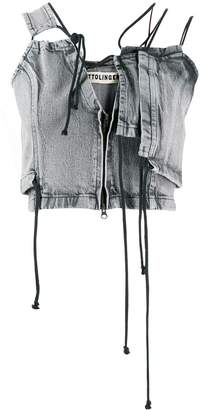 Ottolinger asymmetric denim top