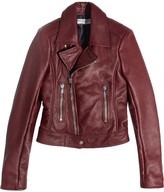 Balenciaga Leather Biker Jacket - Claret
