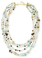 Kenneth Jay Lane Five-Row Amazonite Beaded Necklace
