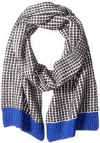 Sofia Cashmere Women's Two Color Thermal Scarf with Contrast Trim
