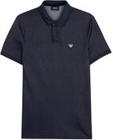 Armani Jeans Indigo Stretch Denim Polo Shirt