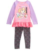 Children's Apparel Network PAW Patrol Pink Raglan Tee & Black Leggings - Toddler & Girls