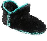 Dearfoams Fairisle-Trim Pile Bootie Slippers