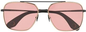Monocle Eyewear Tinted Aviator Sunglasses