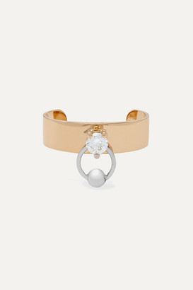 Delfina Delettrez 18-karat Yellow And White Gold Diamond Ear Cuff
