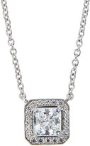FANTASIA CZ Princess-Cut Pendant Necklace