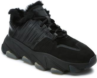 Ash Extasy Tonal Faux Fur Low-Top Sneakers