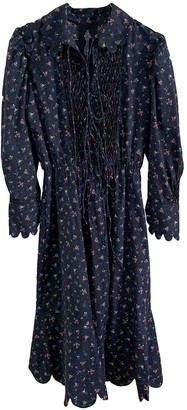 Horror Vacui Blue Cotton Dresses