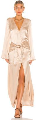 L'Academie Silky Tie Front Dress