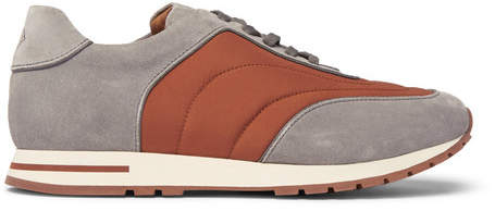 Loro Piana Weekend Walk Suede And Wind Storm System Shell Sneakers