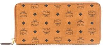 MCM large Visetos zip-around wallet