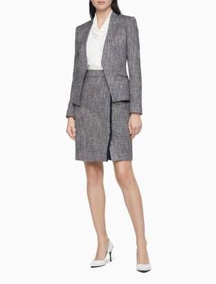 Calvin Klein Boucle Open Suit Jacket