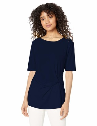 Chaus Women's S/S Side Knot Top