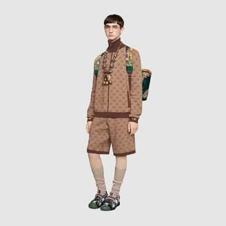 Gucci GG jacquard knit bomber
