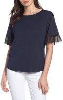 Halogen Tulle Trim Tee (Regular & Petite)