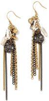 Kenneth Cole new york two-tone chain-fringe earrings