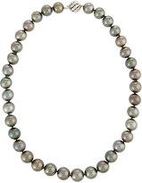 Belpearl 14k Black Tahitian Pearl Necklace, 11-14mm
