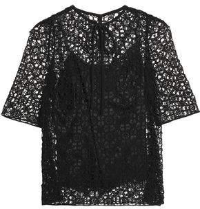 Dolce & Gabbana Cotton And Silk-Blend Macramé Lace Top