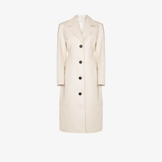 LVIR Faux Leather Trench Coat
