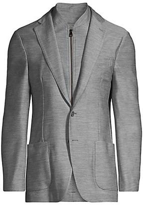 Corneliani Wool Knit Blazer