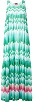 Missoni zig-zag print draped dress