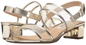 Nina Ganice (Black Luster Satin/Mesh) Women's Sandals