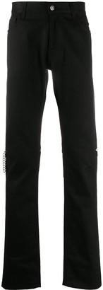 Raf Simons Zipped Knees Slim-Fit Trousers