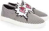 Mira Mikati Houndstooth Aahhh! Patch Sneakers