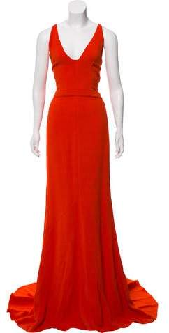 Narciso Rodriguez Maxi Plunge Gown