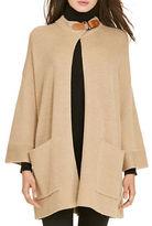 Polo Ralph Lauren Leather-Trim Wool Cardigan