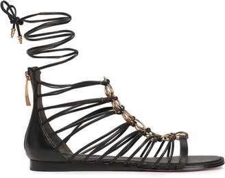 DKNY Tilly Embellished Leather Sandals