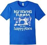 Men's My sewing Room Is my Happy Place - Funny Sewing shirt Large