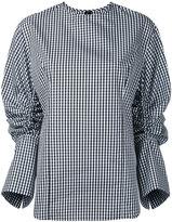 Le Ciel Bleu gingham drawstring shirt - women - Cotton/Polyester - 36