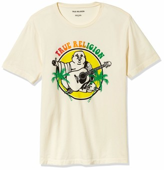 True Religion Men's Buddha Logo Graphic Short Sleeve Crewneck Tee
