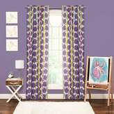 Crayola Bejeweled Rod Pocket 84-Inch Window Curtain Panel in Purple