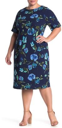 Maggy London Floral Sheath Dress (Plus Size)