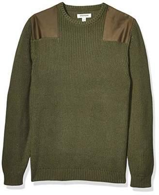 Goodthreads Men's Soft Cotton Military Sweater