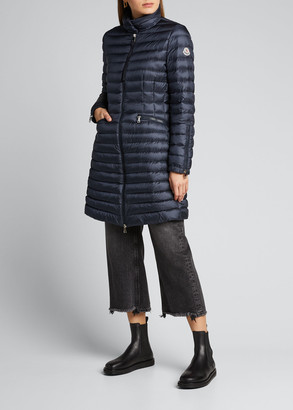 Moncler Sable Channel-Quilt Puffer Coat