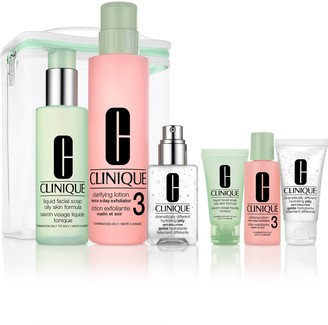 Clinique Great Skin Everywhere 3-Step Skin Care Set for Combination or Oily Skin