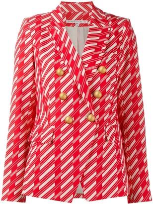 Veronica Beard geometric fitted blazer