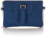 Meli-Melo Women's Thela Clutch Bag With Chain Shoulder Strap Blue Wash Denim