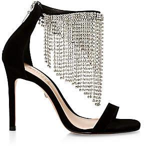 Schutz Women's Lory Crystal Fringe Suede Sandals