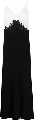 Twin-Set Two Tone Slip Dress