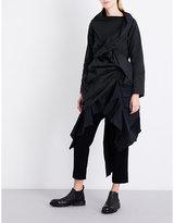 Yohji Yamamoto Gathered woven top