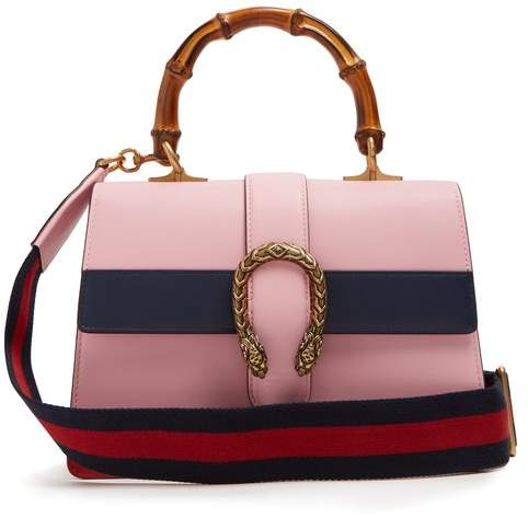 Gucci Dionysus Medium Bamboo Handle Leather Bag - Womens - Pink