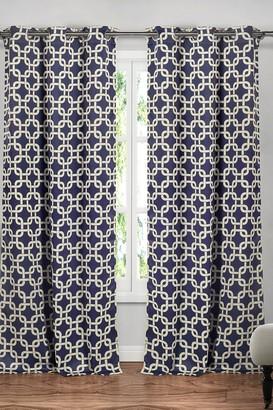 Duck River Textile Kristin Blackout Grommet Curtain - Set of 2 - Navy