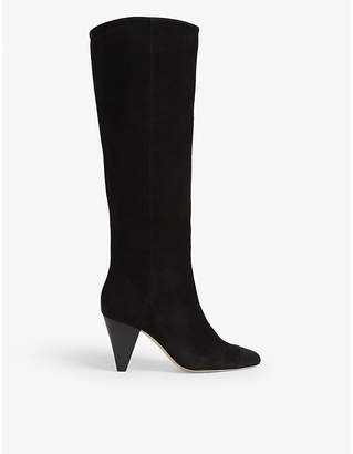 Sandro Dani suede knee high boots