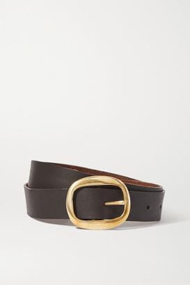 Black & Brown Net Sustain Harper Leather Belt