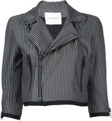 A.F.Vandevorst stripe cropped jacket - women - Polyester/Wool - 36