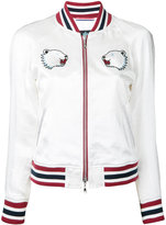 GUILD PRIME bear embroidered bomber jacket - women - Acetate - 34